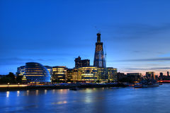 London Skyline. Evening London Skyline from the Tower Bridge royalty free stock images