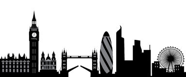 London skyline. Imprssion of london skyline in black and white