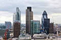 London skyline. Aerial view of London skyline stock photo