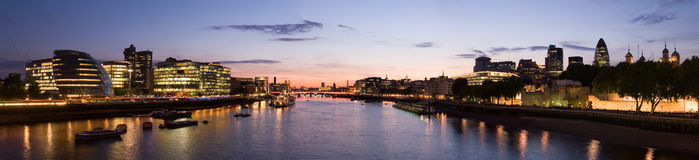 London Skyline. London city skyline panorama from tower bridge royalty free stock photo