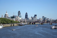 London Skyline. From St Pauls cathedral to the Monument stock photos