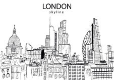 London Skyline abstract Royalty Free Stock Photography