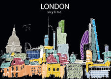 London Skyline abstract Royalty Free Stock Images