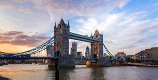 London skyline - Aerial view of London skyline stock image
