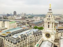 London skyline. Aerial view of the London city. UK royalty free stock image