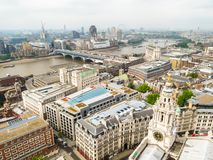London skyline. Aerial view of the London city. UK stock photo