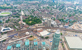 London skyline as seen from helicopter Royalty Free Stock Photos