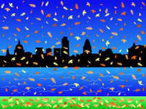 London Skyline in autumn Stock Image