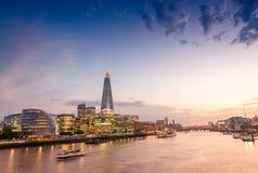 London skyline. Beautiful city landmark, UK Royalty Free Stock Images