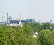 London skyline, beautiful panoramic view from city hill Royalty Free Stock Image