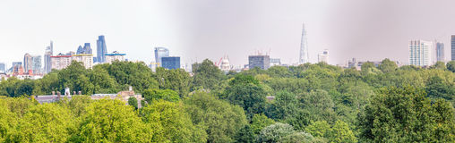 London skyline, beautiful panoramic view from city hill Royalty Free Stock Photo