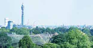 London skyline, beautiful panoramic view from city hill Stock Image