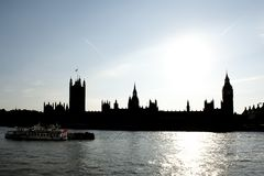 London Skyline and Big Ben Royalty Free Stock Photo