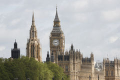 London skyline, Big Ben and Central Tower Stock Images