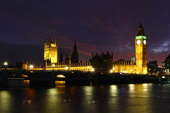 London Skyline and Big Ben, England Royalty Free Stock Photos