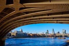 London skyline from Blackfriars new bridge UK Stock Photos