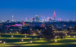 London skyline at blue time royalty free stock photo