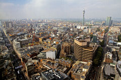 London Skyline BT Tower and Oxford Street Stock Image