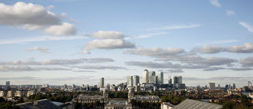 London Skyline, Canary Wharf Royalty Free Stock Photography