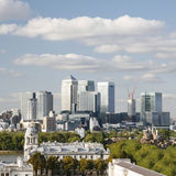London Skyline, Canary Wharf Stock Image
