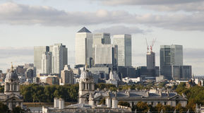 London Skyline, Canary Wharf Royalty Free Stock Image