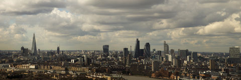 London Skyline. From Canary Wharf Royalty Free Stock Photography