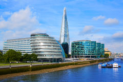 London skyline City Hall and Shard Royalty Free Stock Photography