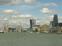 London Skyline. City of London skyline taken from Vauxhall Royalty Free Stock Images