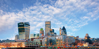 London skyline - cityspace, England Stock Photos