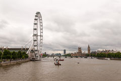 London skyline on a cloudy day. England royalty free stock photography
