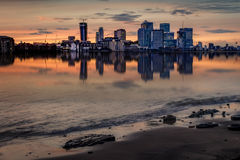 London skyline on a cloudy day at sunset Stock Image