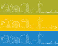 London Skyline Doodle Stock Photography