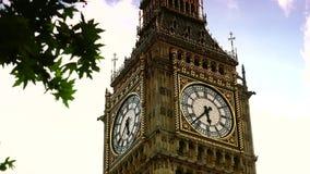 London Skyline Elizabeth Tower Clock -Big Ben. London Skyline Elizabeth Tower Clock (Big Ben stock video footage