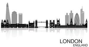 London-Skyline - England stock abbildung