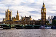 London Skyline, England. London Skyline showing Big Ben and Westminster stock images