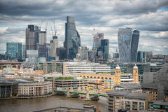 London skyline financial district Royalty Free Stock Images