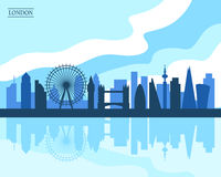 London Skyline. Flat style modern design, vector illustration Stock Image