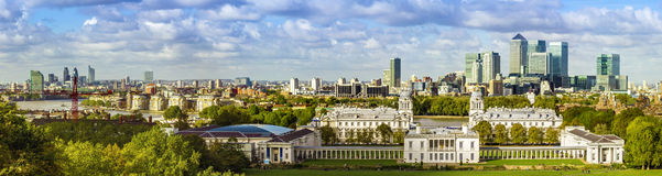 London skyline form Greenwich park Stock Photography