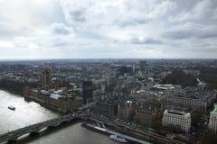 London-Skyline fotografiert vom London-Auge lizenzfreie stockbilder