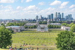 London skyline from Greenwich hill royalty free stock photography