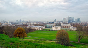 London, skyline from Greenwich Stock Photography