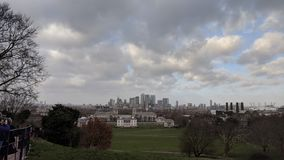 London skyline from Greenwich park Royalty Free Stock Images