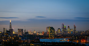 London, skyline from Greenwich Royalty Free Stock Images