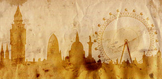 London skyline in grunge style Stock Photo