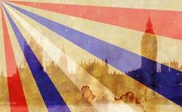 London skyline in grunge style Stock Photography