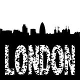 London skyline grunge text Royalty Free Stock Photo
