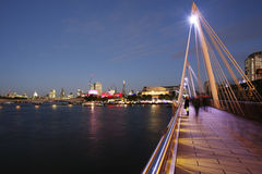 London Skyline, Hungerford Bridge Royalty Free Stock Photography