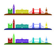 London skyline illustrated Stock Photo