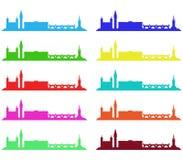 London skyline illustrated Stock Photography