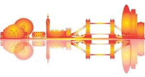 London skyline illustration drawing royalty free stock photos